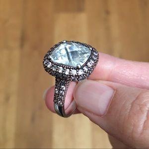 Joseph Esposito designer cz sterling silver ring